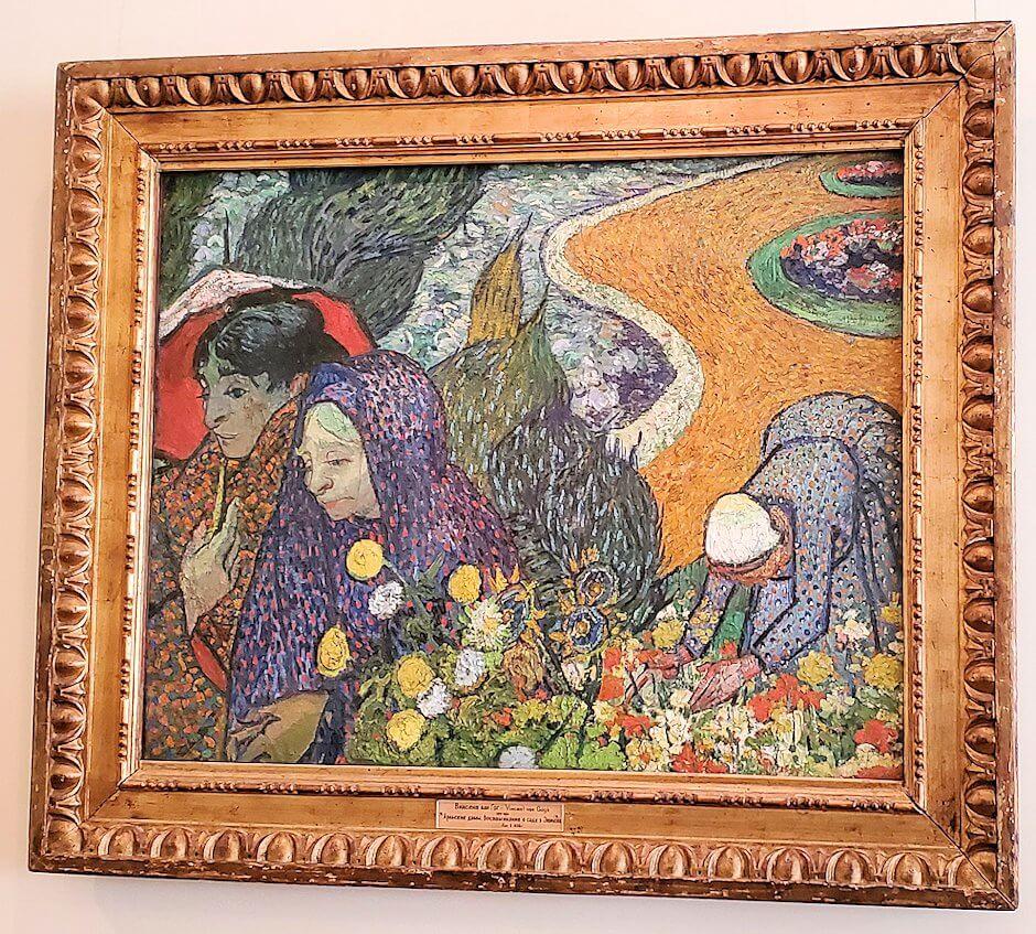 『エッテンの庭の思い出(アルルの女性)』 (Ladies of Arles (Memories of the Garden at Etten)) by フィンセント・ファン・ゴッホ