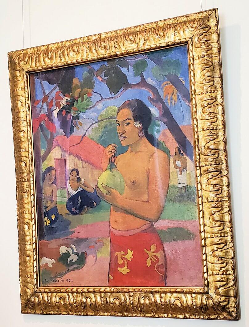 『果実を持つ女(あなたは何処へ行くの?)』 (Woman Holding a Fruit; Where Are You Going ?) by ポール・ゴーギャン