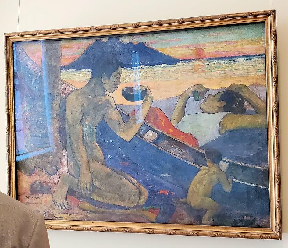 『テ・ヴァー(カヌー、タヒチの家族)』 (Te Vaa (Canoe, Tahitian Family)) by ポール・ゴーギャン