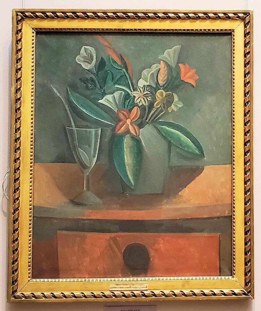 『灰色の瓶に入った花』 (Flowers in a Grey Jar) by パブロ・ピカソ