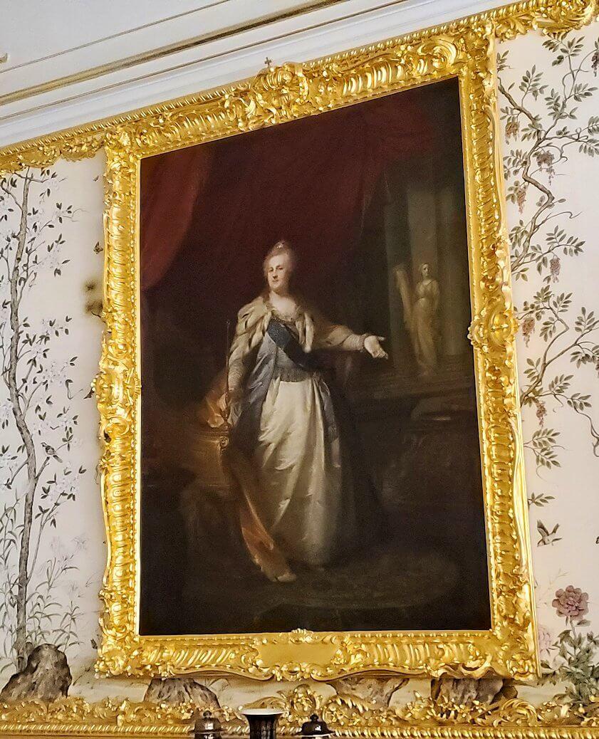 エカテリーナ宮殿の「アレクサンドル1世の客間」に飾られていたエカテリーナ二世の肖像画