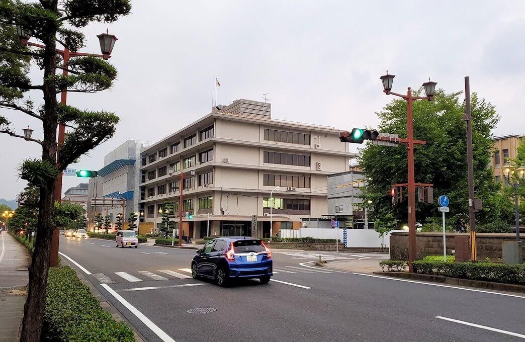 鹿児島県立図書館の鶴丸城跡地周辺の景色