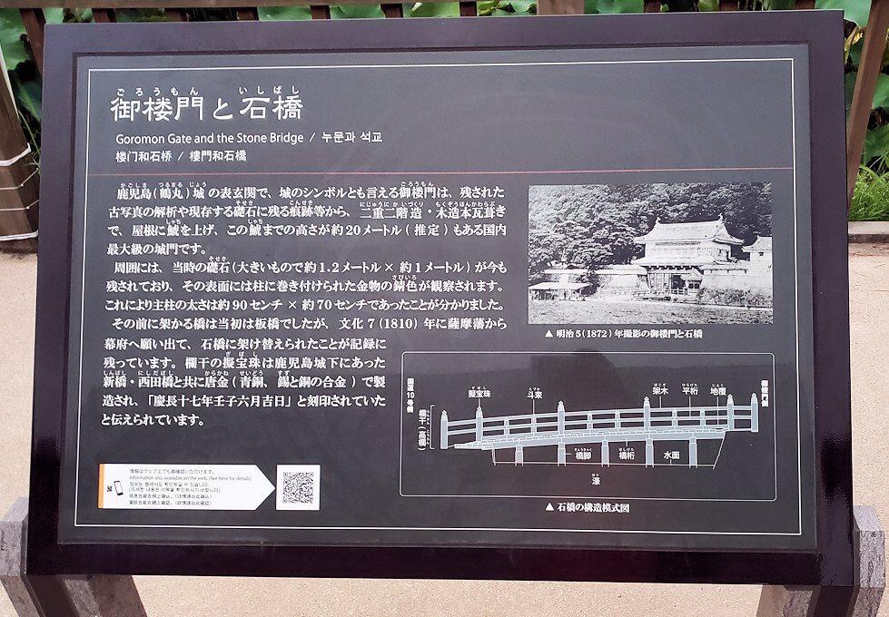 鹿児島市内の鶴丸城の説明