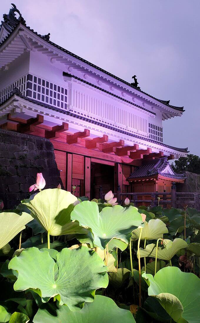鶴丸城正面に復活した「御楼門」