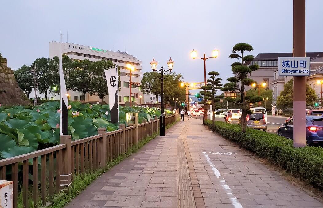 鶴丸城前の道