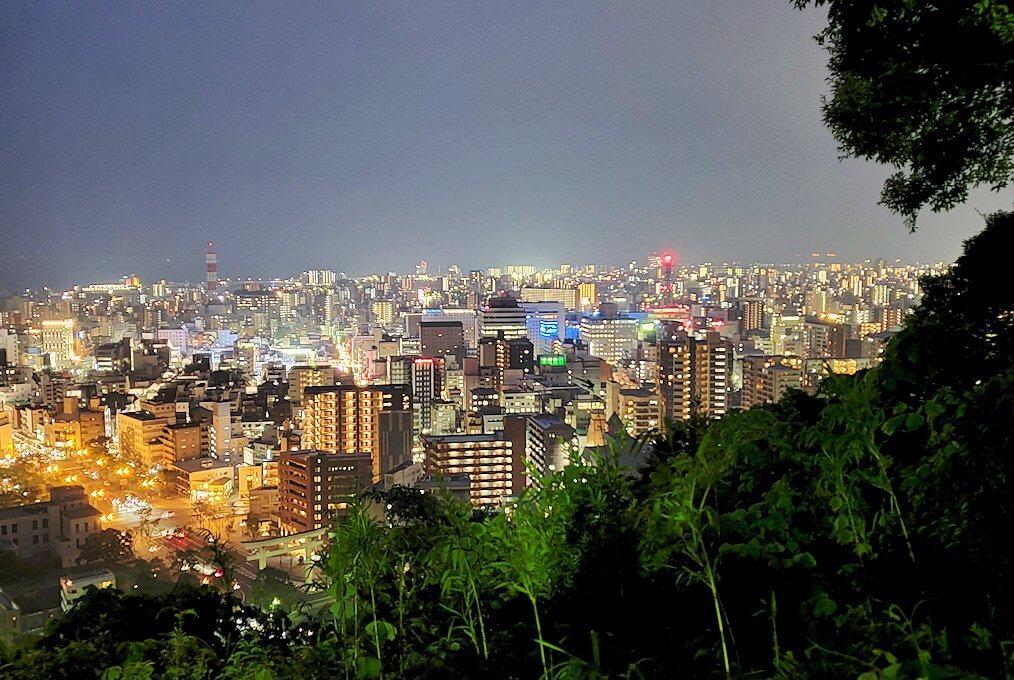 城山展望台から見える鹿児島市内の夜景