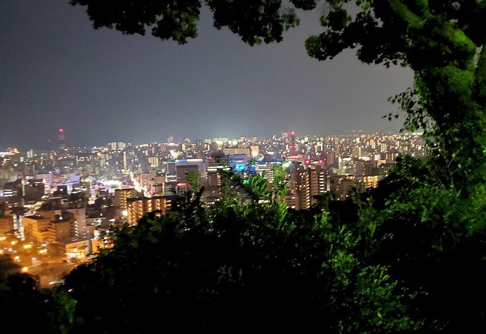 城山展望台から見える鹿児島市内の夜景-3