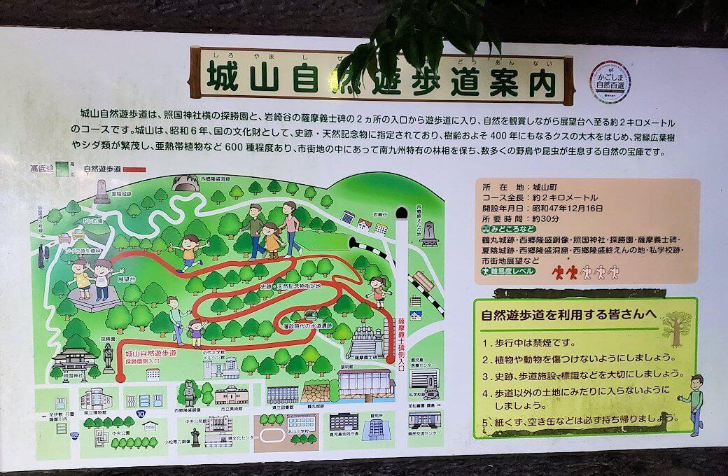 城山遊歩道の案内図