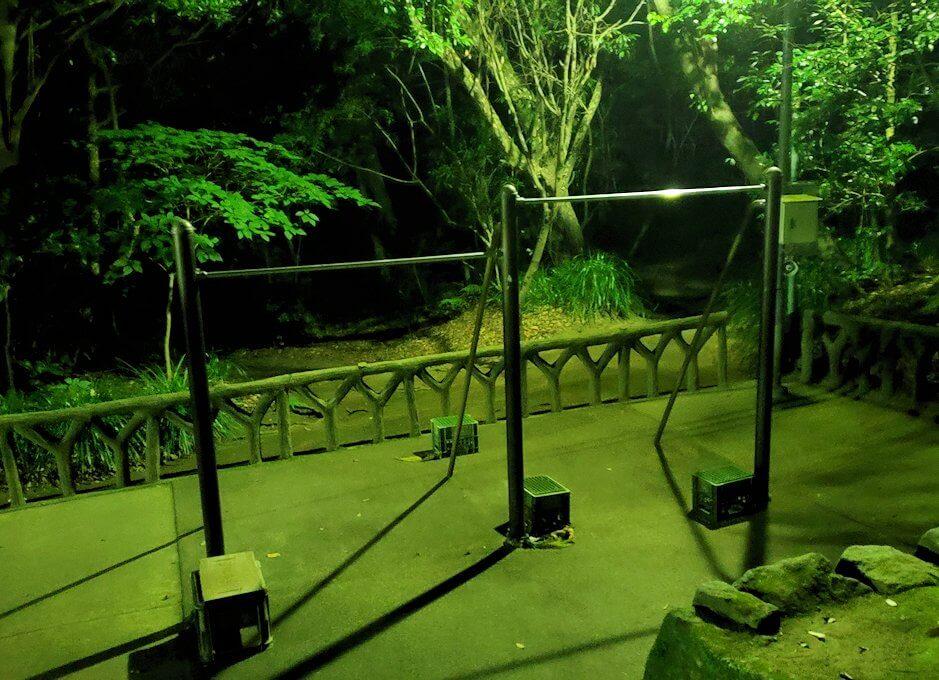 城山展望台にあった鉄棒