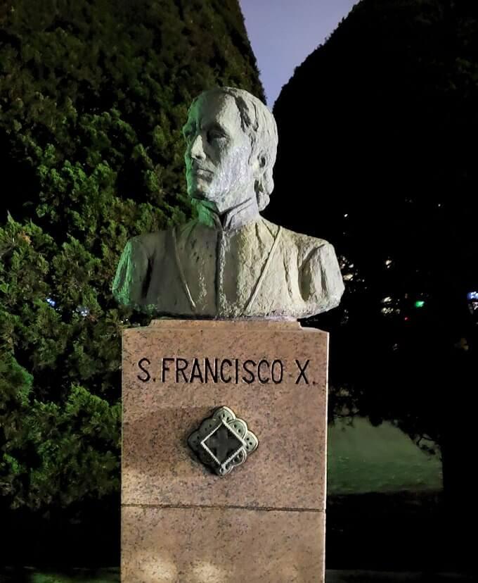 鹿児島市内のザビエル公園にあるザビエルの胸像