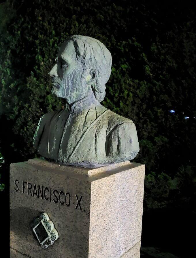 鹿児島市内のザビエル公園にあるザビエルの胸像-1