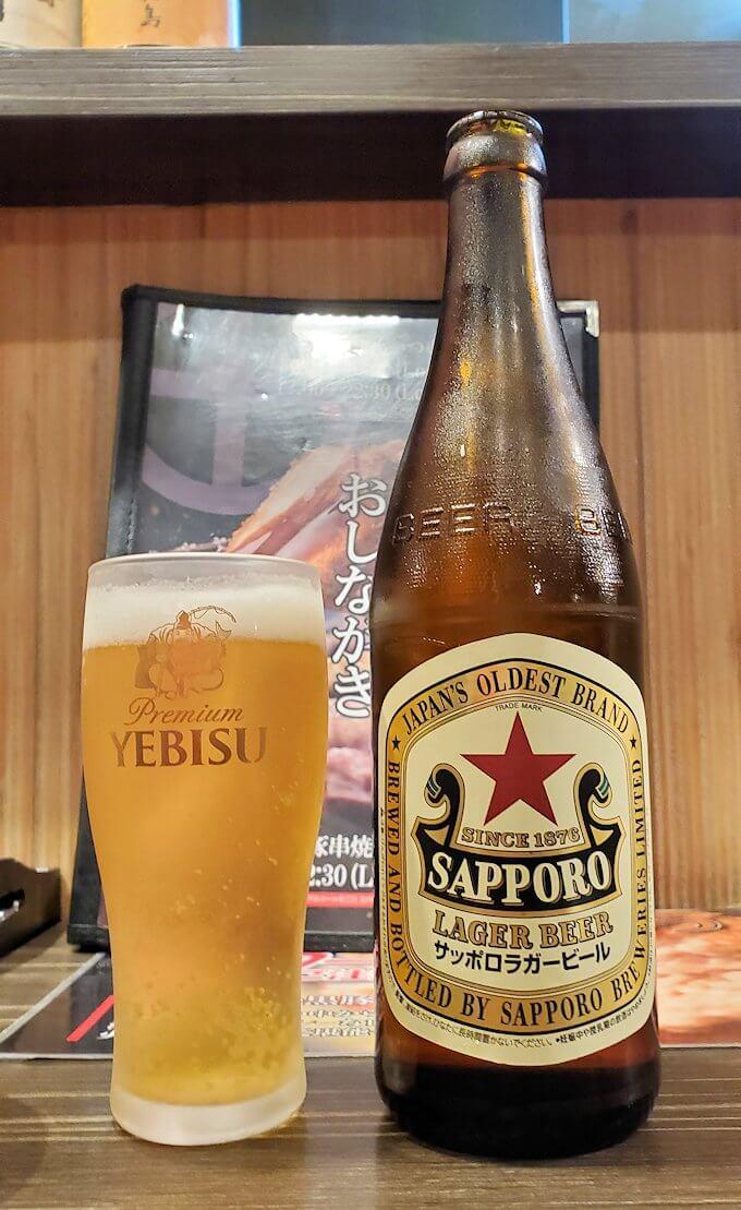「黒べえ」で飲むビール