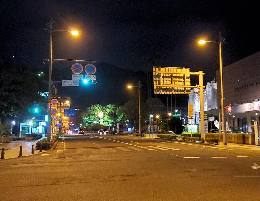 夜の鹿児島市内の景色