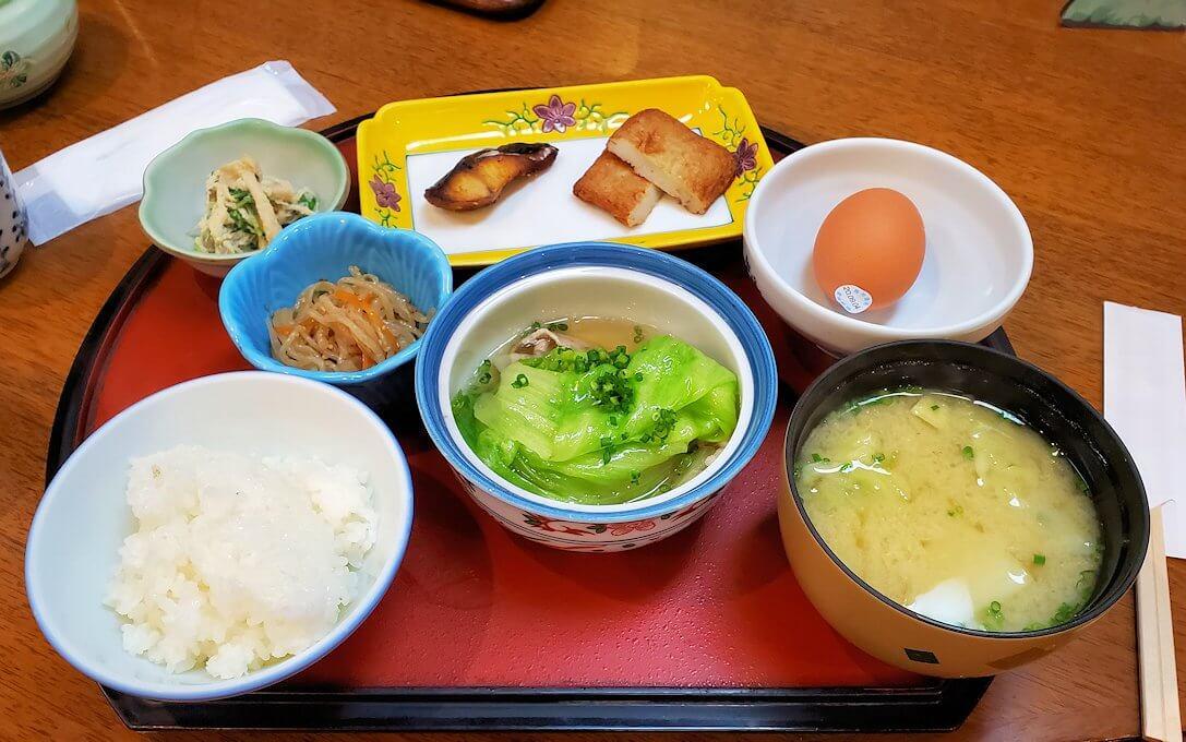 南州館ホテルの和食朝食-1