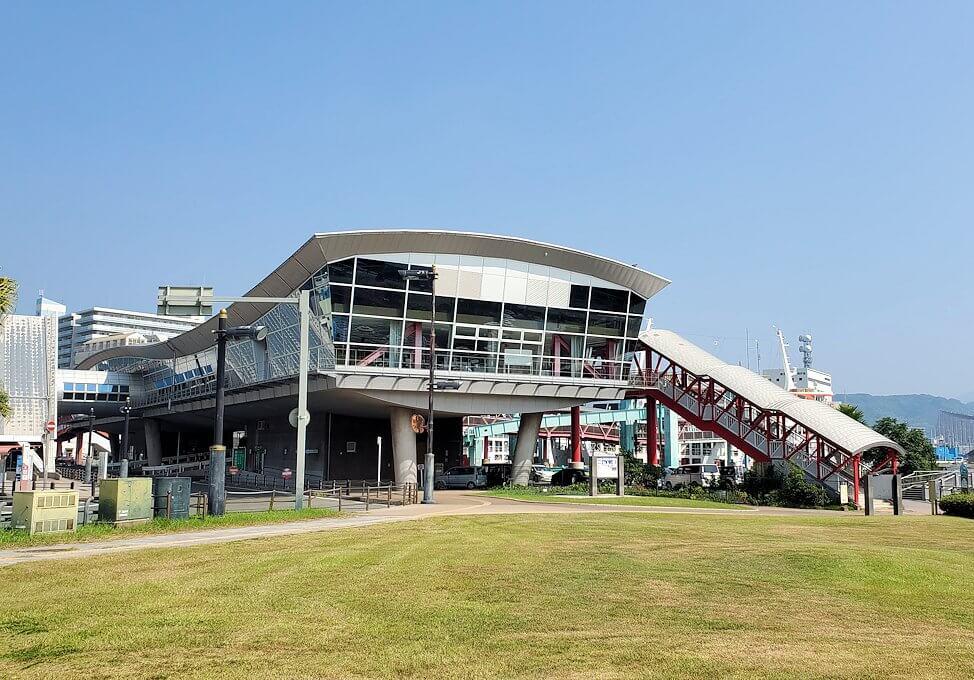 桜島フェリー乗り場の景色