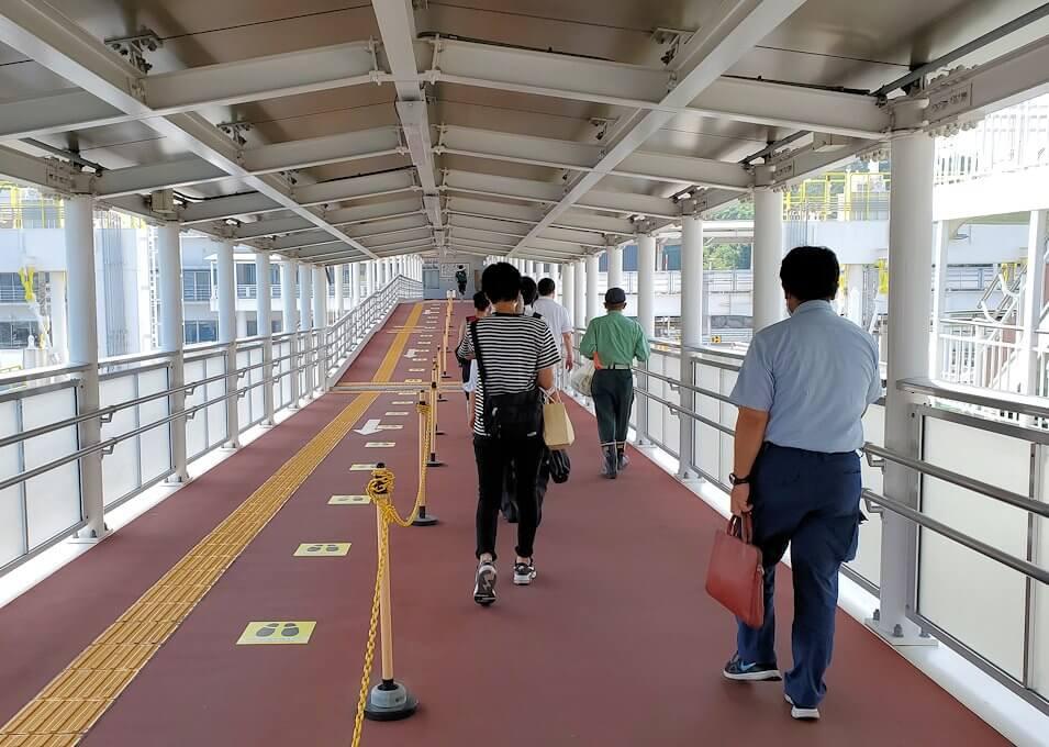 フェリーに乗って桜島に到着-1
