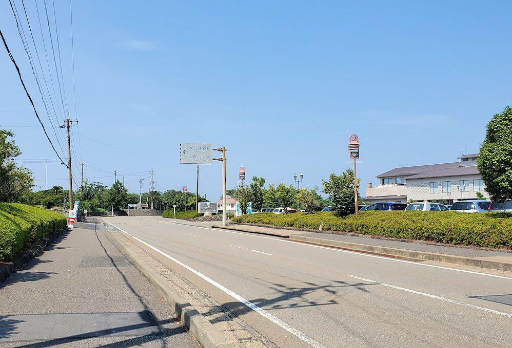 桜島ビジターセンターに向かって歩く