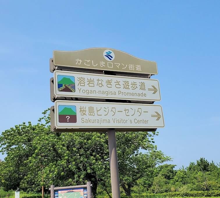 桜島ビジターセンターの看板