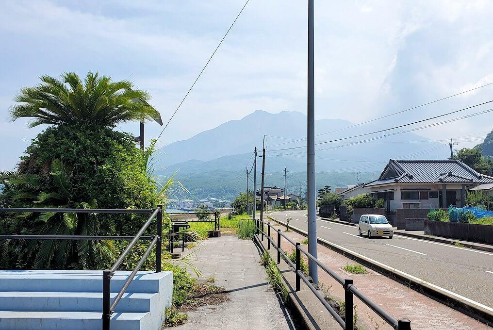 桜島でサイクリングで進む