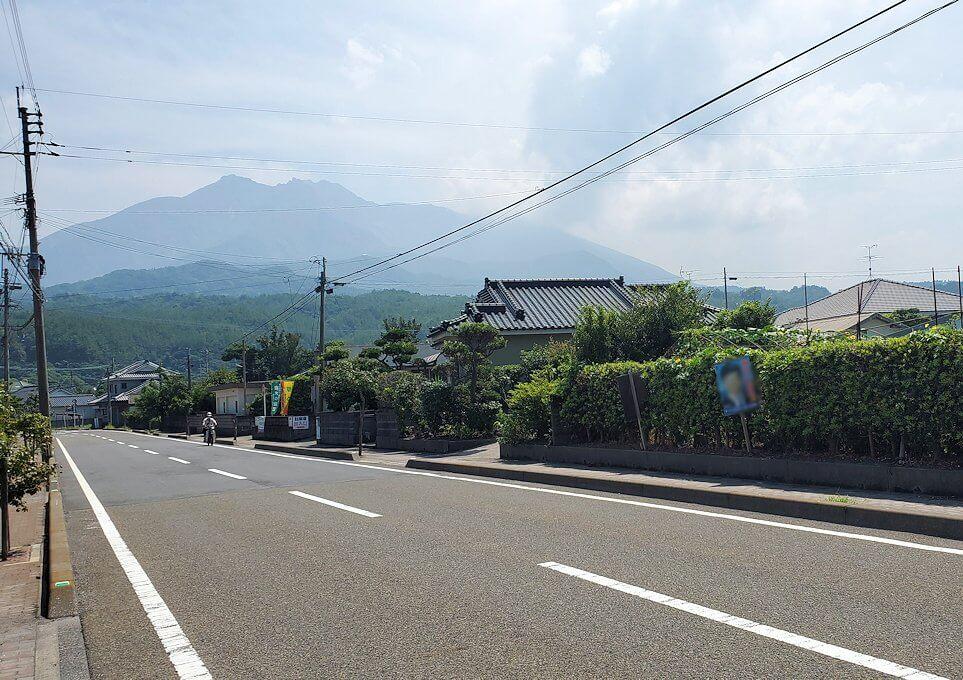 桜島でサイクリング途中に見える桜島