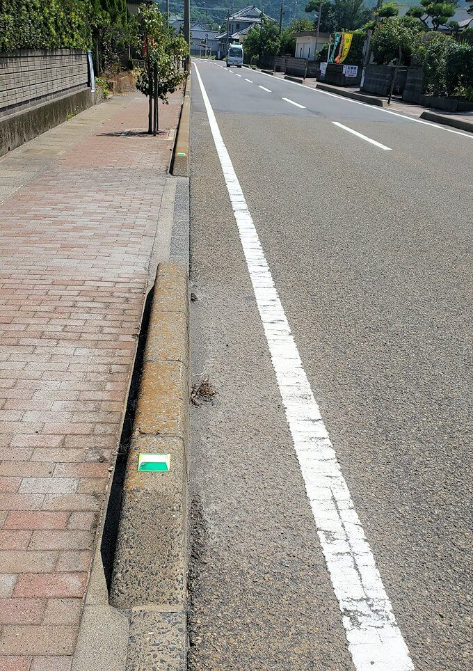 桜島でサイクリングで走る道路