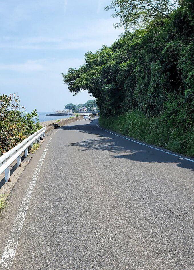 桜島の道路をサイクリングしながら見える景色-2