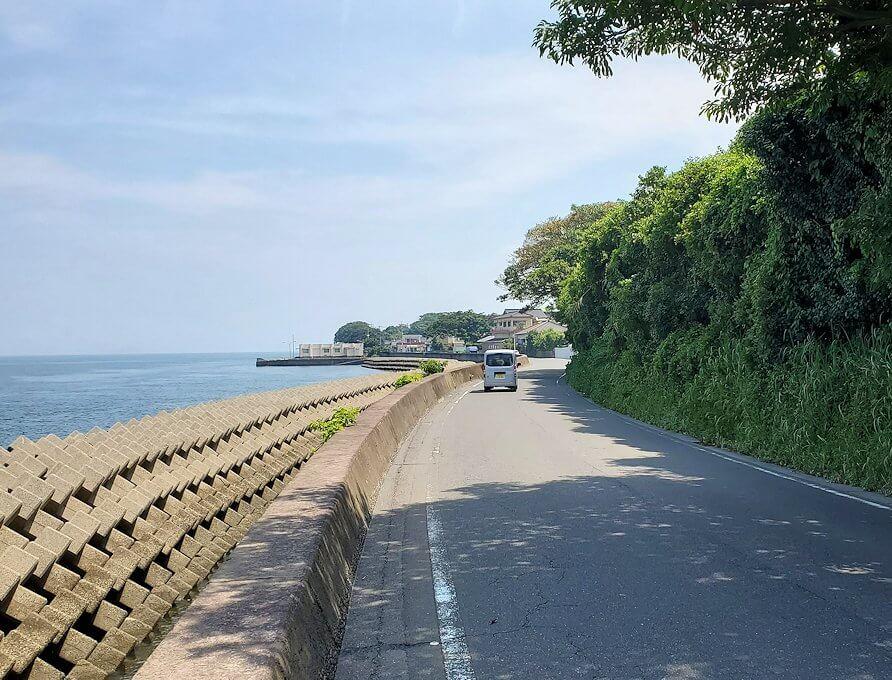 桜島の道路をサイクリングしながら見える景色