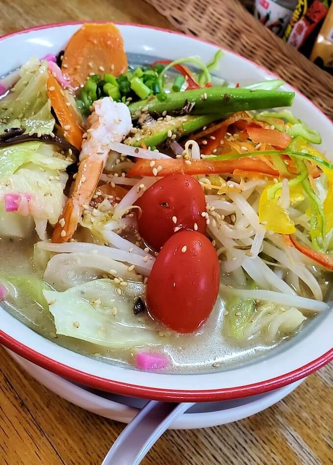 桜島黒神町にあった「椿の里」で出てきたチャンポンのアップ写真