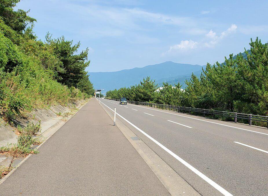 桜島サイクリングの分岐点で垂水側に進む-1
