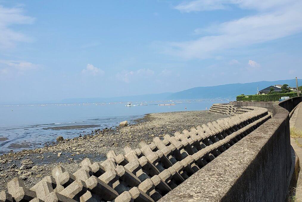 桜島サイクリングで垂水地区からの景色