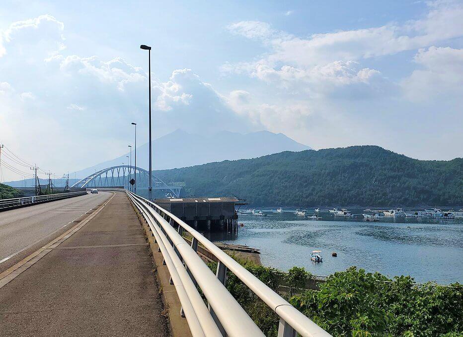垂水地区から再び桜島方向へ進む
