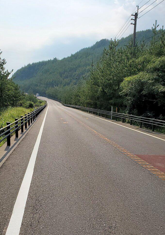 国道220号線の溶岩道路を進む-1