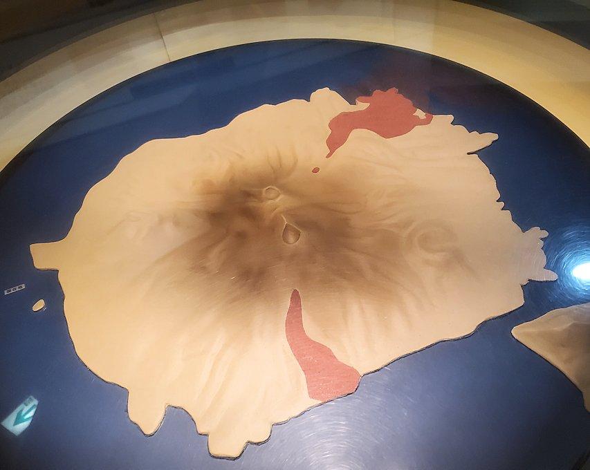桜島ビジターセンターにある、安永大噴火の説明1