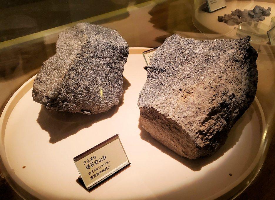 桜島ビジターセンターにある、過去の噴火の際に出た火山岩