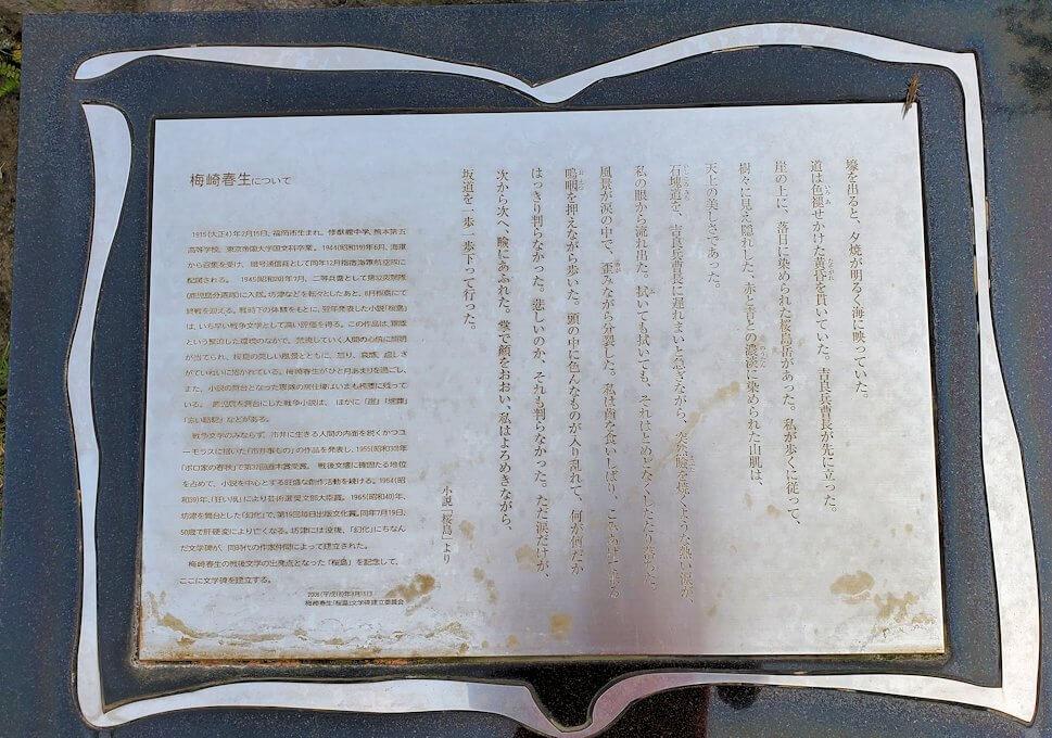 桜島溶岩なぎさ公園の足湯に設置されていた詩2
