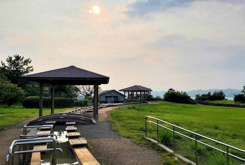桜島溶岩なぎさ公園の景色