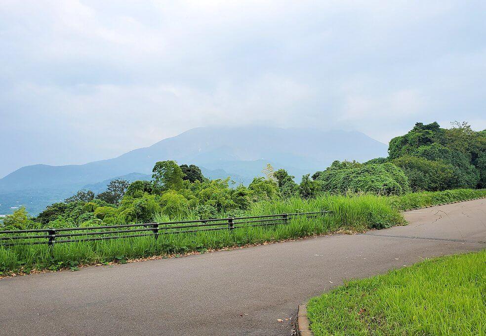 桜島自然恐竜公園からの桜島の景観