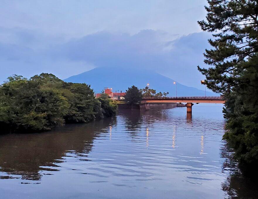 石橋記念公園から見える桜島
