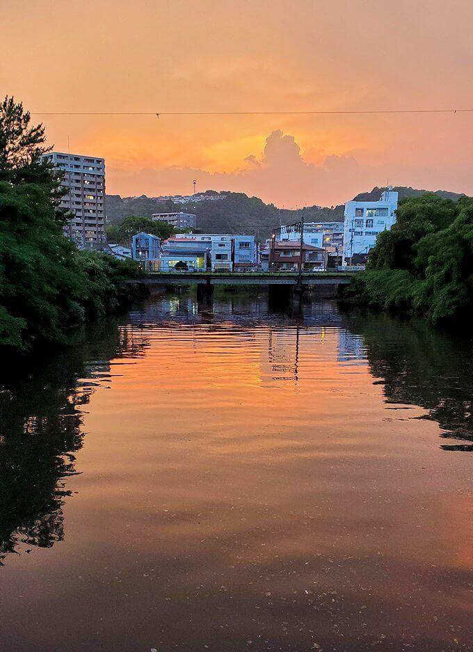 石橋記念公園から見える夕暮れ時