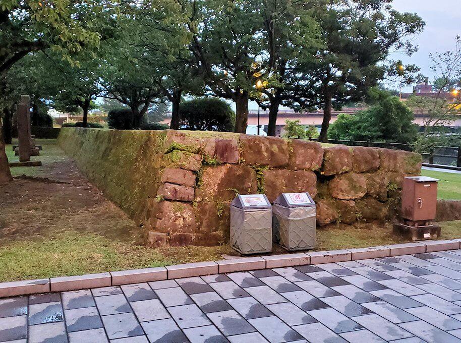 祇園之洲公園にある薩摩藩の砲台跡の景色