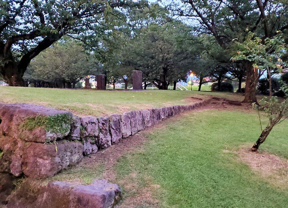 祇園之洲公園にある薩摩藩の砲台跡の景色-1