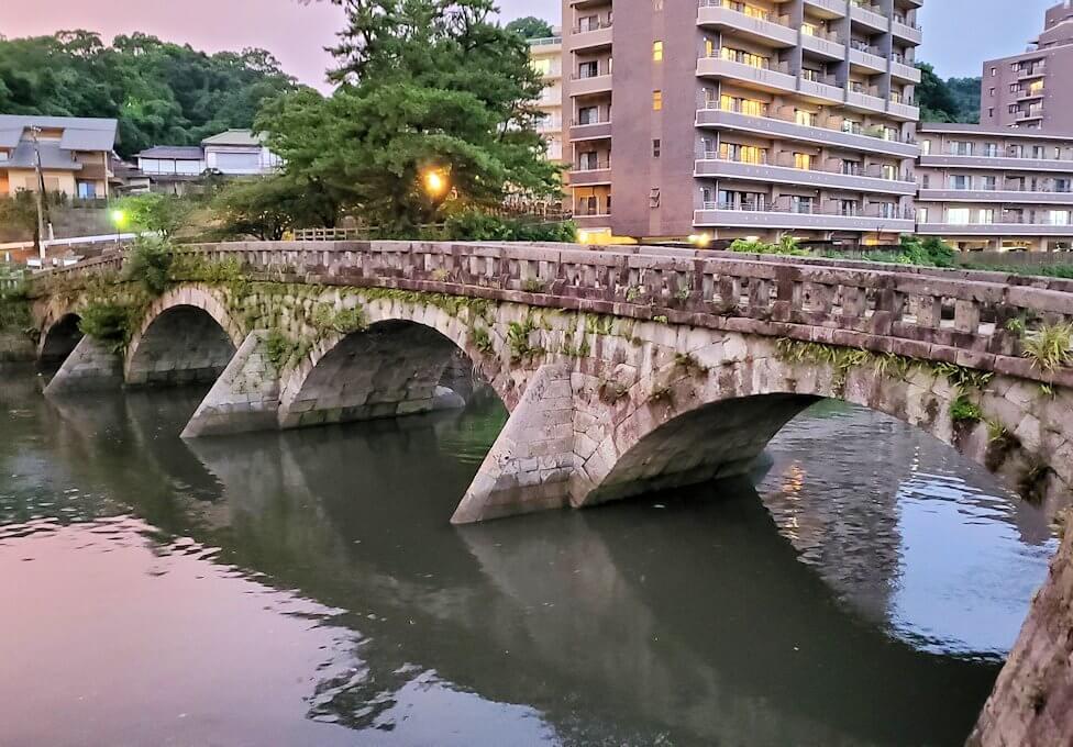 石橋記念公園にある玉江橋