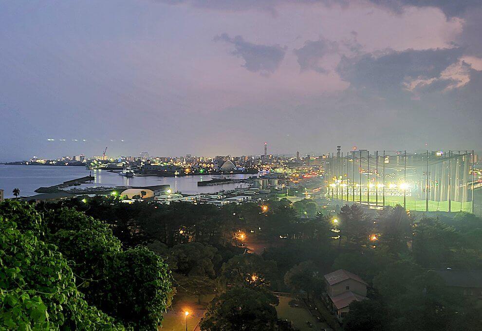 多賀山公園から見える鹿児島市内の夜景-1