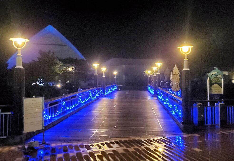 夜の水族館の景観