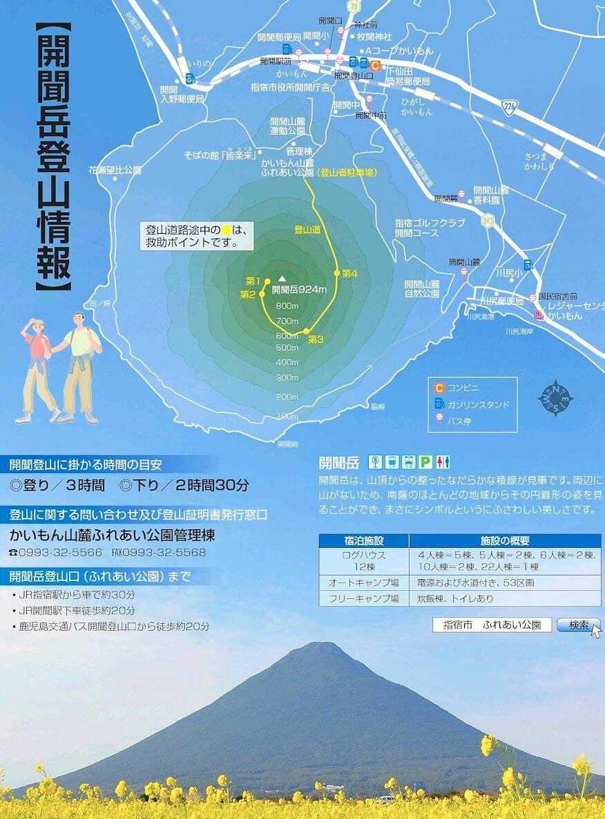 開聞岳登山の情報