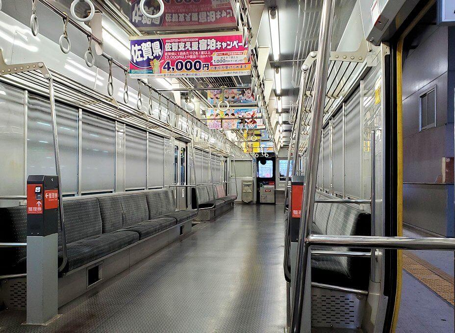 JR指宿枕崎線の車内