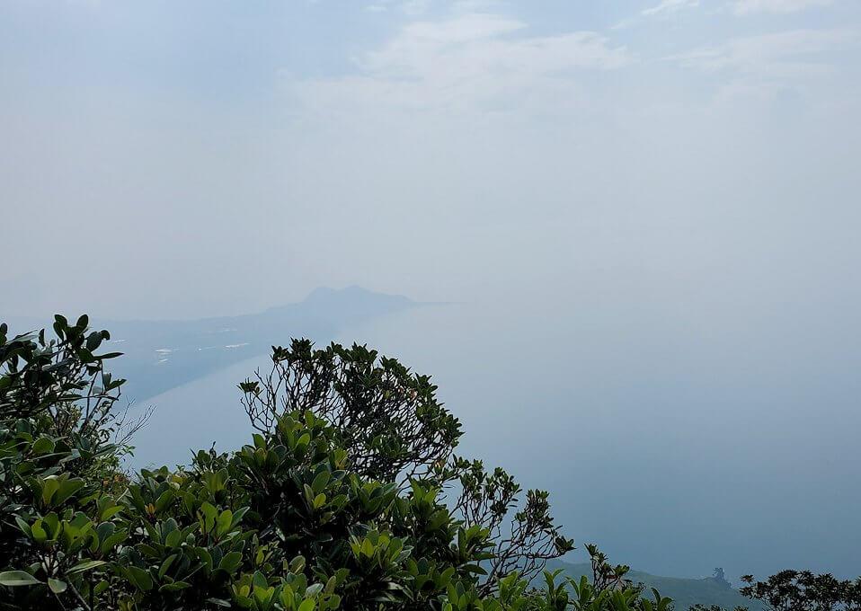 開聞岳登山道7合目近くから見えた景色1