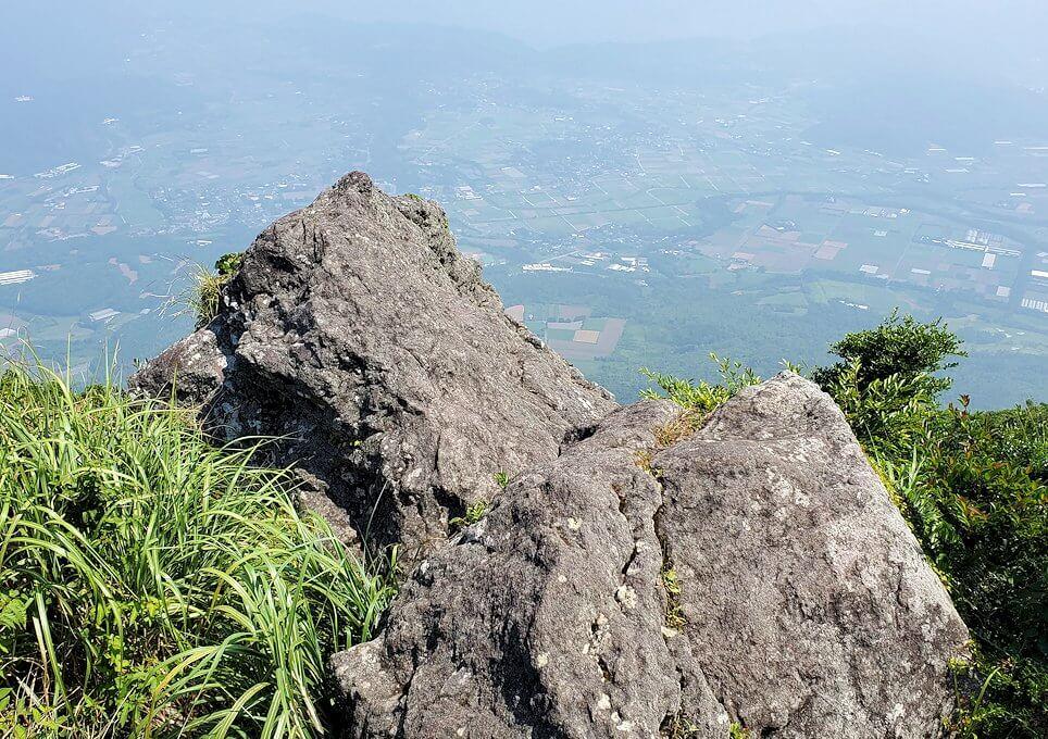 開聞岳頂上からの景色