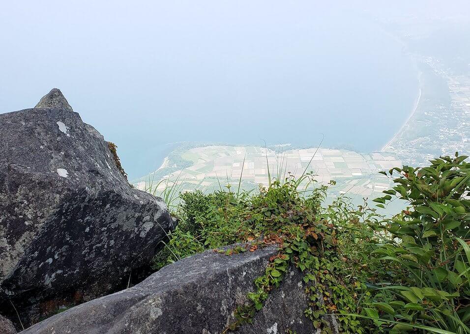 開聞岳を下山しながら見えた景色
