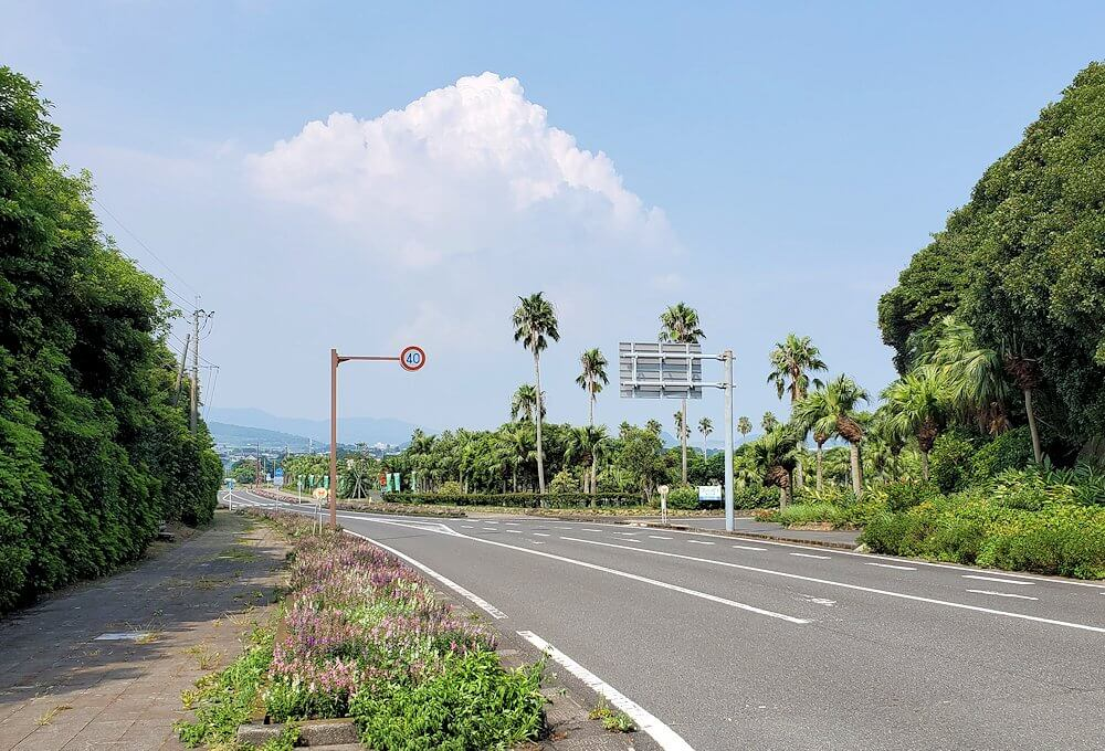 鹿児島で長崎鼻目指して進む3